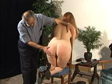 Her poor bottom is so red and sore looking from this spanking