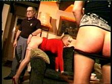Spanking two young ladies