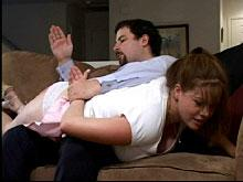 Spanking Videos - back over his knee again