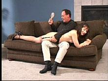 Almost an hour later and he's still spanking her