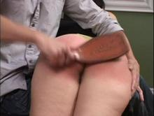 Spanking Videos - Spanked with the leather paddle