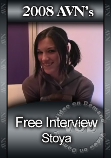 2008 AVN Interview - Stoya Box Cover