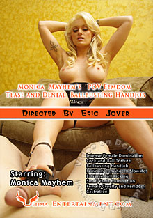 Monica Mayhem's POV Femdom Tease And Denial Ballbusting Handjob Box Cover