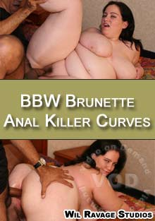 BBW Brunette Anal Killer Curves Box Cover