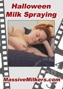 Halloween Milk Spraying Box Cover