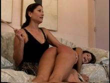 After a long hard spanking Francesca Le has a change of attidtude
