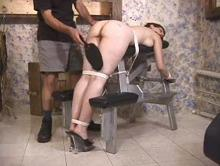 Helpless she couldn't stop the spanking