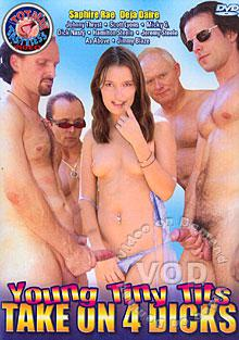 Young Tiny Tits Take On 4 Dicks Box Cover